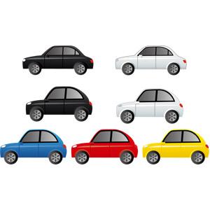 フリーイラスト, ベクター画像, AI, 乗り物, 自動車, セダン, ハッチバック