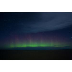フリー写真, 風景, 自然, 夜, 夜空, 星, オーロラ, カナダの風景