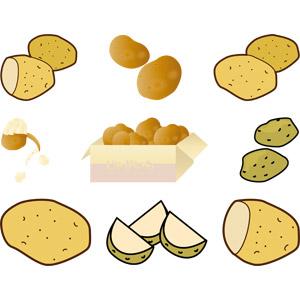 フリーイラスト, ベクター画像, AI, 食べ物(食料), 野菜, じゃがいも(ジャガイモ)