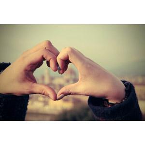フリー写真, 人体, 手, ハート, 手でハートを作る, カップル, 恋人