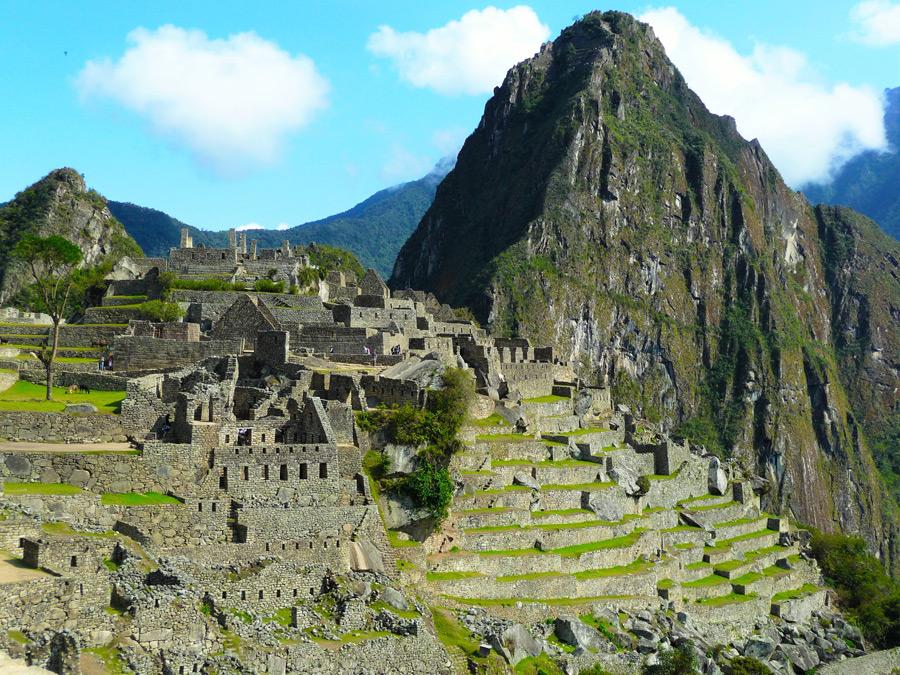 フリー写真 ペルーのマチュピチュ遺跡