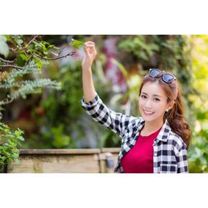 フリー写真, 人物, 女性, アジア人女性, 楚珊(00053), サングラス, シャツ