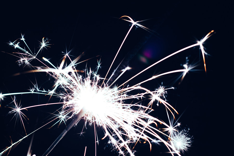フリー写真 手持ち花火の火花