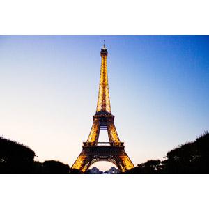 フリー写真, 風景, 建造物, 建築物, 塔(タワー), エッフェル塔, パリ, 世界遺産, フランスの風景, 夕暮れ(夕方)