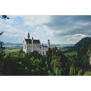 フリー写真, 風景, 建造物, 建築物, 城, ドイツの風景, バイエルン州