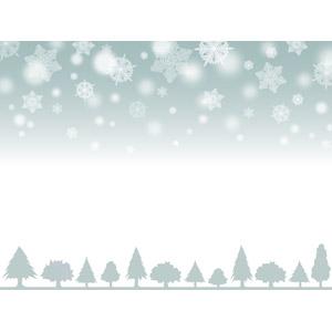 フリーイラスト, ベクター画像, AI, 背景, 雪, 雪の結晶, 樹木, 冬