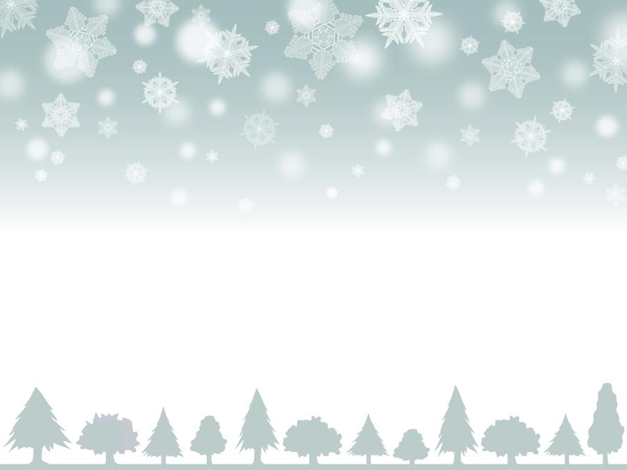 フリーイラスト 降りゆく雪と並んだ木の背景