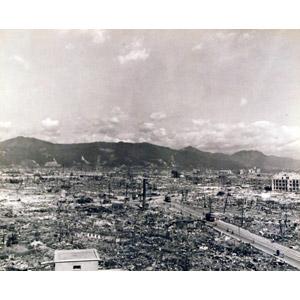 フリー写真, 戦争, 風景, 破壊, 原子爆弾, 広島県, 太平洋戦争, 第二次世界大戦, モノクロ