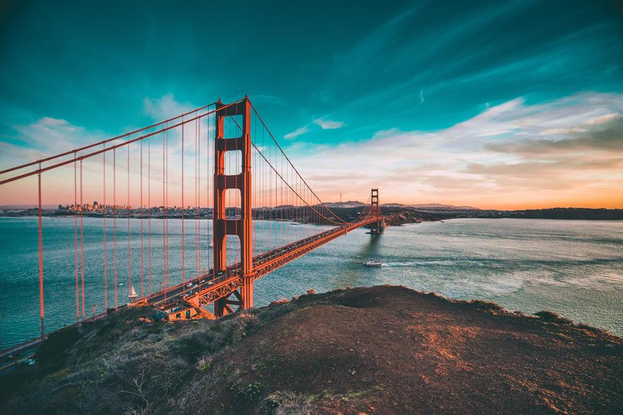 フリー写真 ゴールデンゲートブリッジの風景