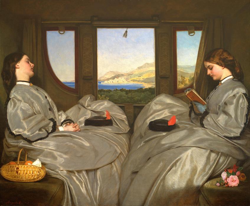 フリー絵画 オーガスタス・エッグ作「旅の道連れ」