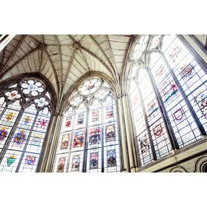 フリー写真, 風景, 建造物, 建築物, 教会(聖堂), ウェストミンスター寺院, ステンドグラス, 世界遺産, イギリスの風景, ロンドン