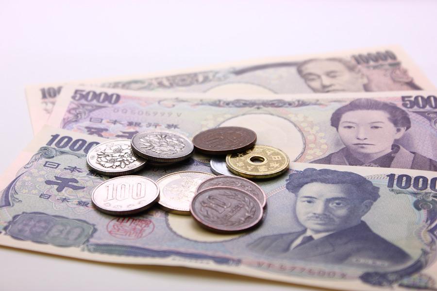 フリー写真 日本の紙幣と硬貨
