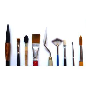 フリー写真, 画材, 書道筆, 絵筆(画筆), ペインティングナイフ
