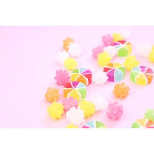 フリー写真, 食べ物(食料), 菓子, 和菓子, 飴(キャンディ), 金平糖(こんぺいとう), カラフル