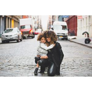 フリー写真, 人物, 親子, 母親(お母さん), 子供, 娘, 二人, アメリカ人, ニューヨーク
