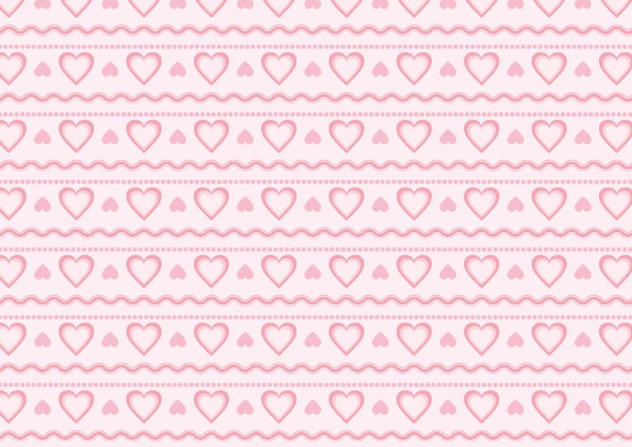 フリーイラスト ハートのパターン背景