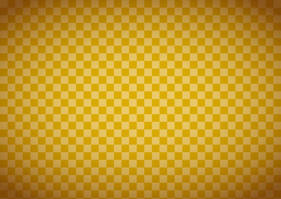 フリーイラスト 金色の市松模様の背景