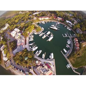 フリー写真, 風景, 建造物, 建築物, ヨットハーバー(マリーナ), 船, クルーザー, ヨット, アメリカの風景