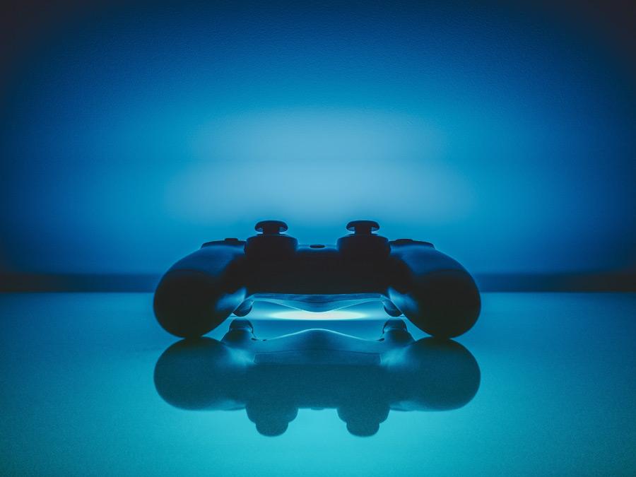 フリー写真 プレイステーション4のゲームパッド