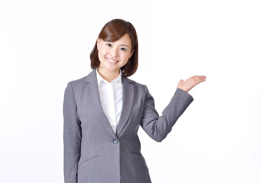 フリー写真 案内する日本のビジネスウーマン