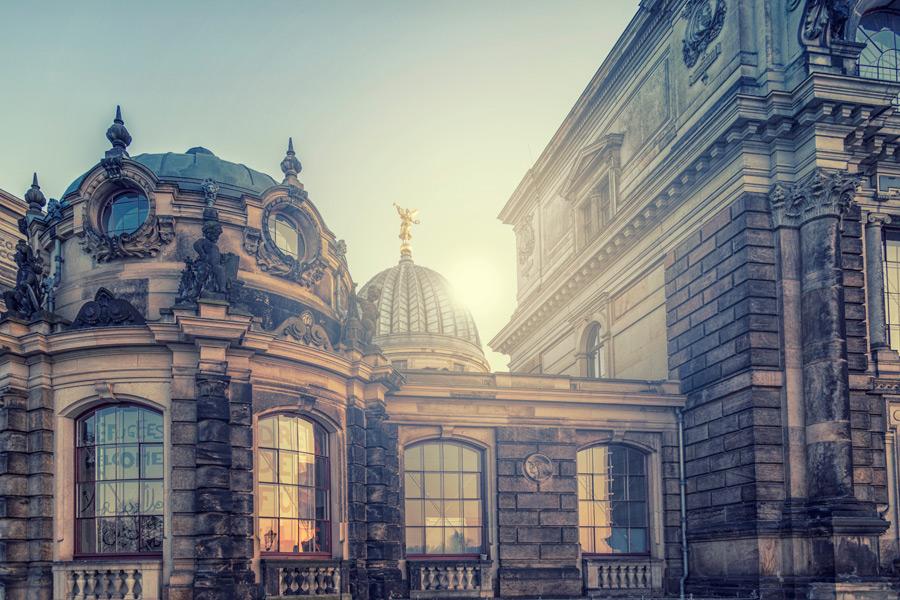 フリー写真 ドレスデン美術大学の風景