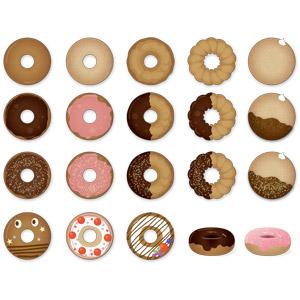 フリーイラスト, ベクター画像, AI, 食べ物(食料), 菓子, 洋菓子, スイーツ, ドーナツ