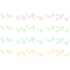 フリーイラスト, ベクター画像, AI, 飾り罫線(ライン), 光(ライト), 星(スター), 輝き