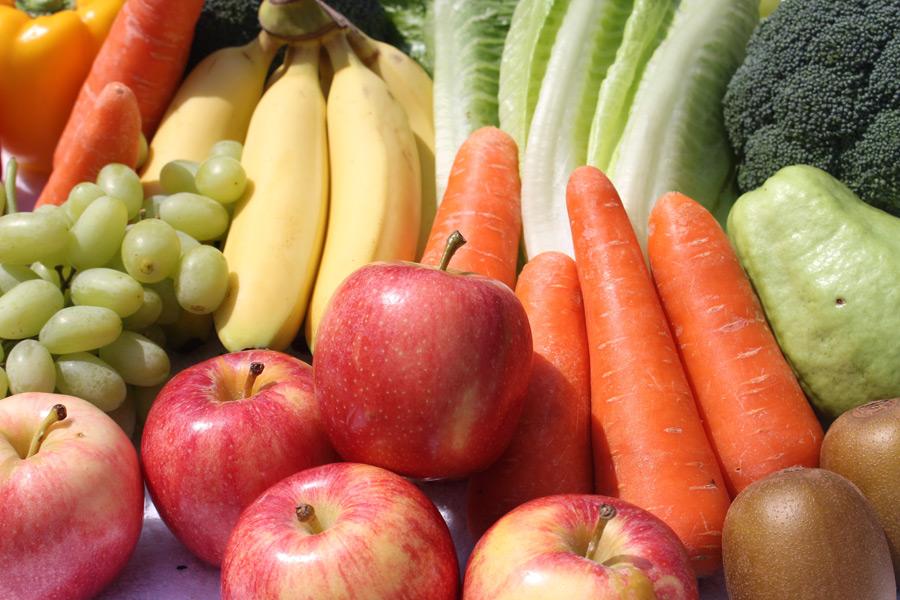 フリー写真 野菜と果物