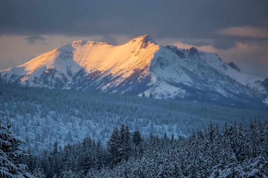 フリー写真 エレクトリック・ピークの山の風景