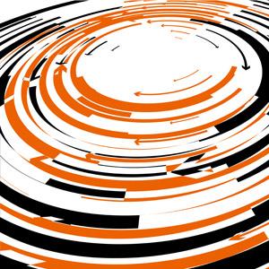 フリーイラスト, ベクター画像, AI, 背景, 抽象イメージ, 矢印, 渦巻き状