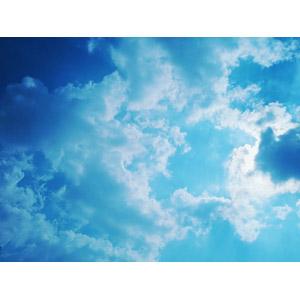 フリー写真, 風景, 自然, 空, 雲, 青色(ブルー)