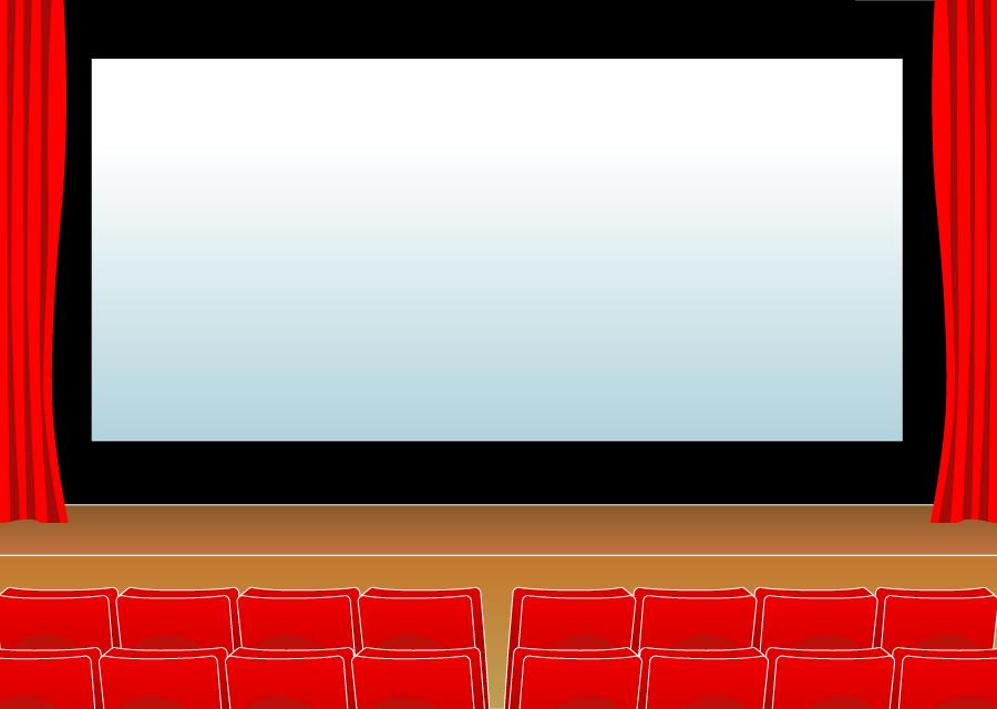 フリーイラスト 映画館