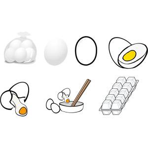 フリーイラスト, ベクター画像, AI, 食べ物(食料), 卵(タマゴ), ゆで卵, 卵料理