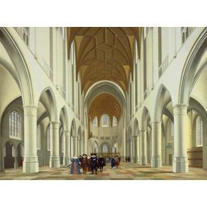 フリー絵画, ピーテル・ヤンス・サーンレダム, 風景画, 建造物, 建築物, 教会(聖堂), オランダの風景
