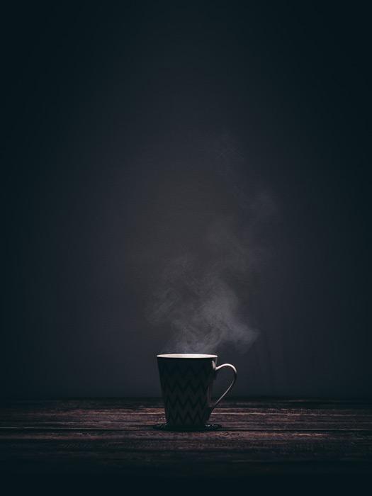 フリー写真 マグカップと湯気