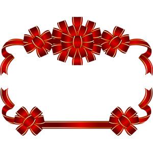 フリーイラスト, ベクター画像, AI, 背景, フレーム, 囲みフレーム, リボン, 花リボン, 赤色(レッド)
