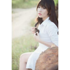 フリー写真, 人物, 女性, アジア人女性, ベトナム人, 女性(00123), 髪の毛を触る