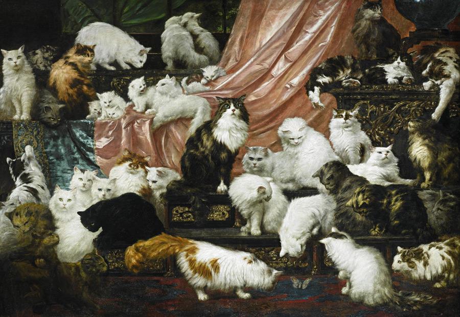 フリー絵画 カール・ケーラー作「妻の愛人たち」