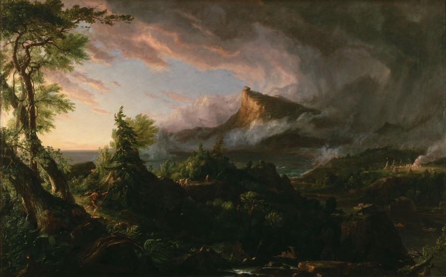 フリー絵画 トマス・コール作「未開の状態」
