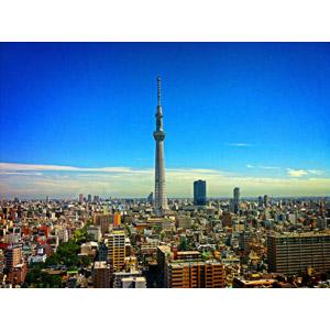 フリー写真, 風景, 建造物, 建築物, 都市, 高層ビル, 街並み(町並み), 塔(タワー), 東京スカイツリー, 日本の風景, 東京都