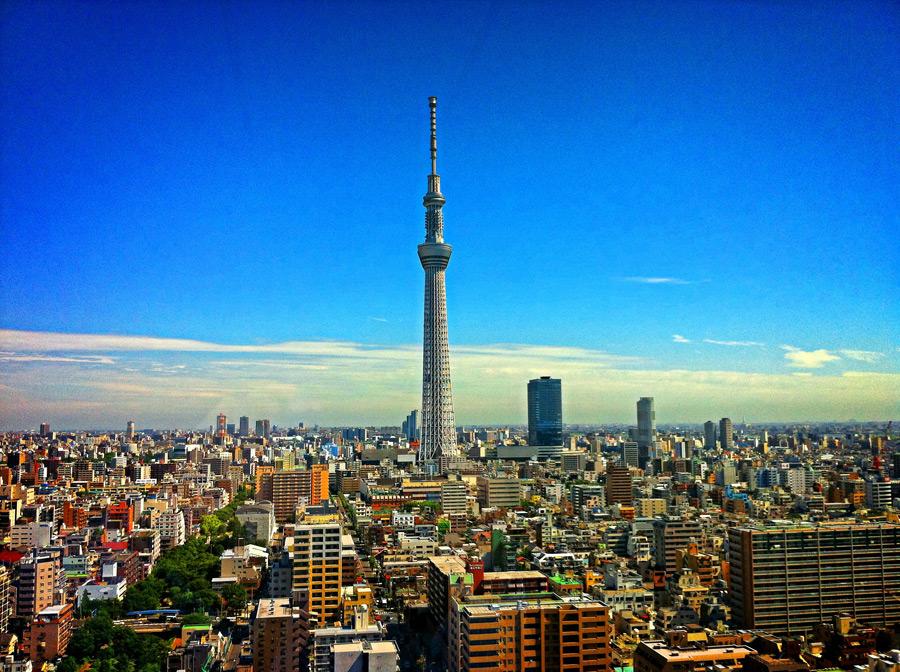 フリー写真 東京スカイツリーと東京都の街並み