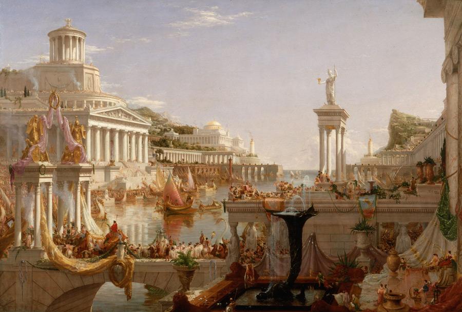 フリー絵画 トマス・コール作「帝国の完成」