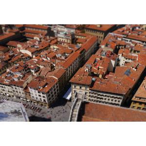 フリー写真, 風景, 建造物, 建築物, 旧市街, 街並み(町並み), 世界遺産, イタリアの風景, フィレンツェ, ミニチュアフェイク, ティルト・シフト