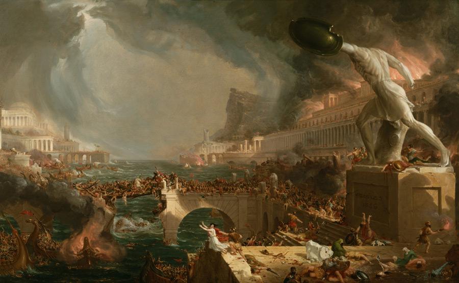 フリー絵画 トマス・コール作「帝国の衰退」