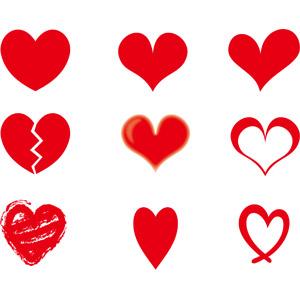 フリーイラスト, ベクター画像, EPS, ハート, シンボル, 愛(ラブ), 2月, バレンタインデー, 失恋, ハート(ひび割れ)