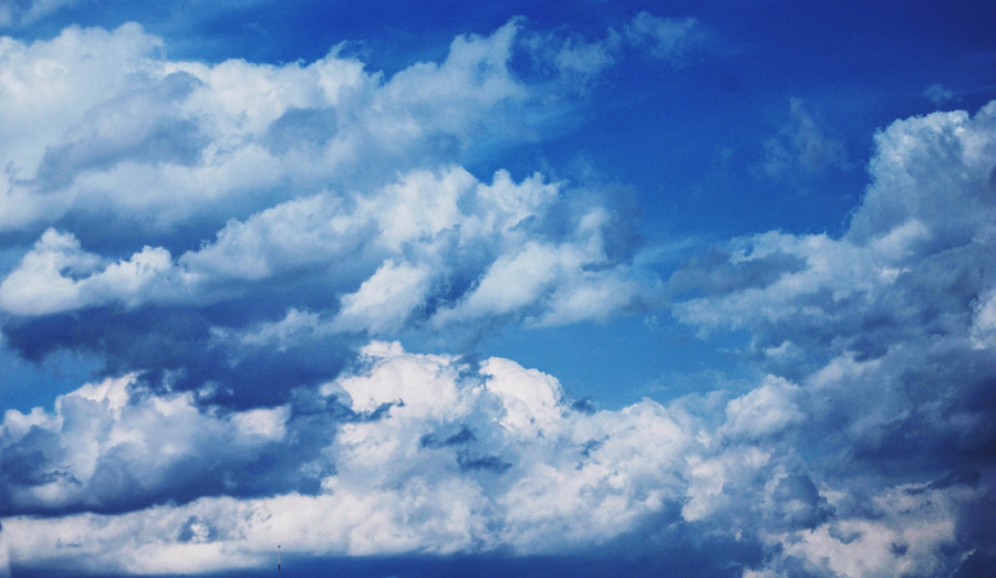 フリー写真 雲と空の風景