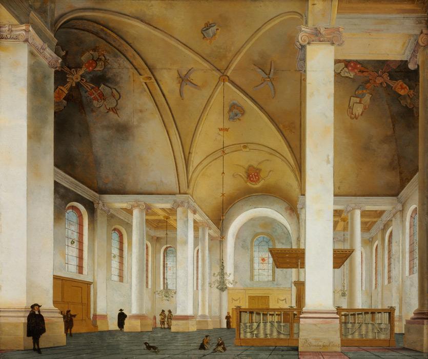 フリー絵画 ピーテル・ヤンス・サーンレダム作「ハールレムの新教会」