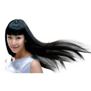 フリー写真, 人物, 女性, アジア人女性, 髪がなびく, 白背景, ヘアケア