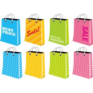 フリーイラスト, ベクター画像, EPS, 買い物(ショッピング), ショッピングバッグ