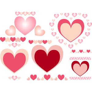 フリーイラスト, ベクター画像, EPS, 飾り(装飾), ハート, シンボル, 愛(ラブ), 2月, バレンタインデー